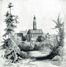 Die Jakobskirche, in der mein Großvater August Siebert predigte - nach einer Zeichnung um 1905
