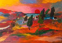 Lande colorée