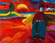 Marie et le dernier Angélus. 146x114 cm