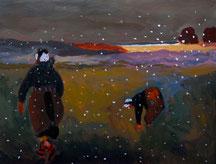 Femme au couchant - Les 4 saisons - L'hiver