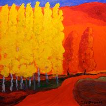 L'automne où les jaunes fleurissent en lumière