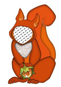 Eichhörnchen Kissen, Kinderkissen, Namenskissen, Babykissen, Fotokissen