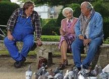 Giséle Casadessus? Jean Becker et Gérard Depardieu