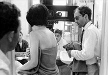 """Jean Luc Godard tournant """"Le mépris""""."""