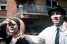 """Brigitte Bardot et Michel Piccoli dans """"Le mépris""""."""
