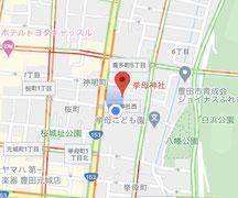 挙母神社周辺地図
