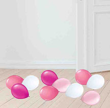 Miniballons Mini Ballons Luftballon Deko Dekoration Streuartikel Party Feier Geburtstag Baby Taufe Geburt Jubiläum Boden Tisch