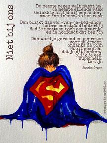 Gedicht Niet bij ons - Weduwe in Opleiding - Sascha Groen