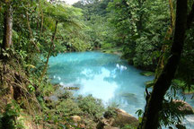Hiking to Rio Celeste Waterfall