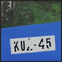 Kuz-45, 20 x 20 cm, akryl na płótnie, 2017