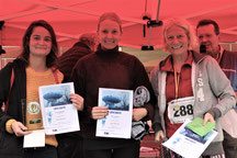 Frauen 10 km : v.l. Nina Jansing - Silvia Sprenger - Barbara Thiel