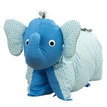 Kuschelkissen Elefantenkissen Hellblau