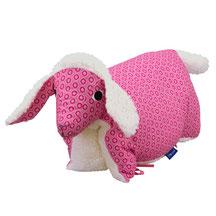 Tierkissen Lamm Teddyplüsch Lammkissen Pink Schaf