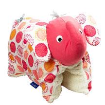 Tierkissen Biobaumwolle Teddyplüsch Elefantenkissen