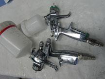 Becher-,  Airless- und Pulverlackpistolen
