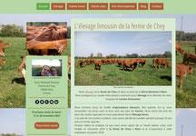 site elevage ferme de chey cree en formation avec e-cime.fr spécialiste du site avec optimisation Référencement pour TPE
