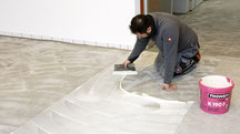 Building chemistry, building materials, floor laying systems, substrate preparation, bonding, renovation, maintenance