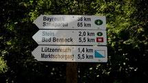 Wandern auf den Westweg bis Bad Berneck