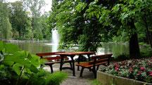 Röhrensee und Parkanlage in Bayreuth