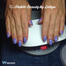 cnd shellac manicure wisteria haze