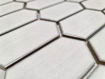 mosaico ceramica bianco