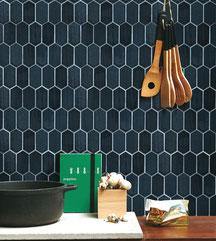 mosaico ceramica nero