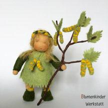 Blumenkinderwerkstatt Birke mit Beinchen