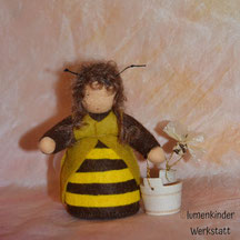 Blumenkinderwerkstatt Arbeiterbiene mit Honigtopf