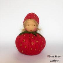 Blumenkinderwerkstatt Erdbeere Kugelpuppe
