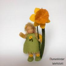 Blumenkinderwerkstatt Osterglocke mit Beinchen