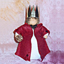 Blumenkinderwerkstatt König rot alt