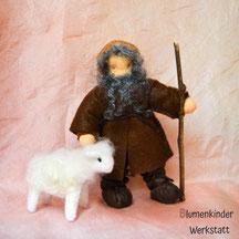 Blumenkinderwerkstatt Hirte (Beinchen) mit Schaf