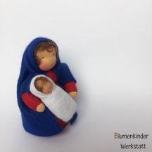 Blumenkinderwerkstatt Maria brünett mit Jesus
