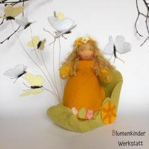Blumenkinderwerkstatt Frühlingsprinzessin im Schmetterlingewagen