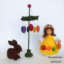 Blumenkinderwerkstatt Osterkind Osterbaum und Hase