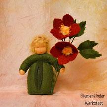 Blumenkinderwerkstatt Christrose rot