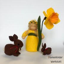 Blumenkinderwerkstatt Osterglocke mit Häschen