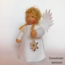Blumenkinderwerkstatt Engel blond mit Holzsternchen