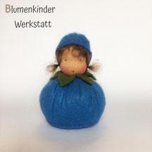 Blumenkinderwerkstatt Blaubeermädchen Kugelpuppe