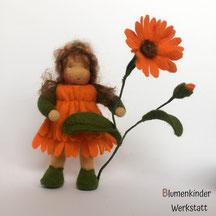 Blumenkinderwerkstatt Ringelblume mit Beinchen