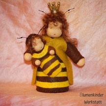 Blumenkinderwerkstatt Bienenkönigin mit Baby