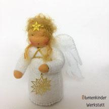 Blumenkinderwerkstatt Engel mit Metallsternchen