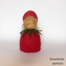 Blumenkinderwerkstatt Erdbeere Kegelpuppe