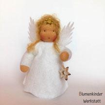 Blumenkinderwerkstatt Engel mit Holzsternchen