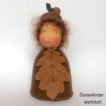 Blumenkinderwerkstatt Eichel Kegelpuppe