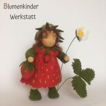 Blumenkinderwerkstatt Erdbeere mit  Beinchen