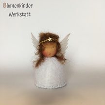 Blumenkinderwerkstatt Engel braune Zöpfe