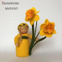 Blumenkinderwerkstatt Osterglocke mit zwei Blüten
