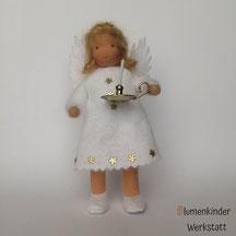 Blumenkinderwerkstatt Engel mit Beinchen und Leuchter