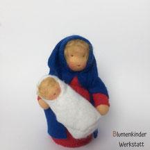 Blumenkinderwerkstatt Maria blond mit Jesus